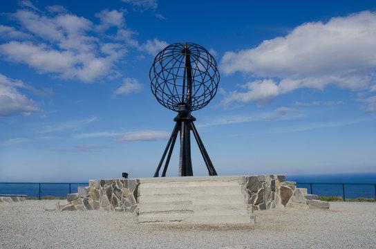 Symbolic globe at the North Cape/ Nordkapp
