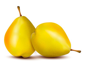 Rpe pear isolated on white. Vector illustration