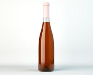 Corked bottle of white wine or brandy