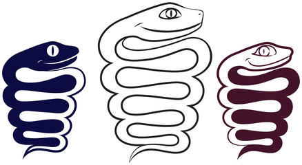 Symbol of the year. Merry snake