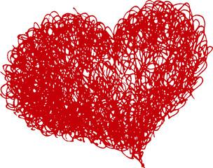 hand drawn vector heart