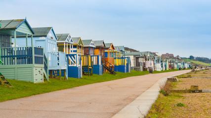 Beach huts on Kent coastline