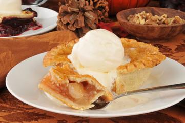 Individual sized apple pie