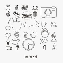 Icon silhouettes