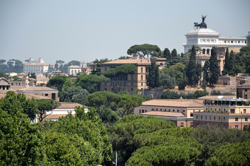 Rome skyline with National Monument to Victor Emmanuel II