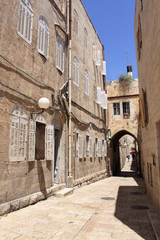Ancient Alley in the old city, Jerusalem, Israel