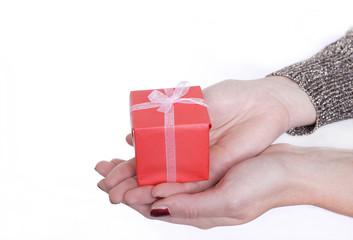 Fototapeta christmas gift giving obraz
