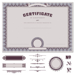certificate template and additional design elements