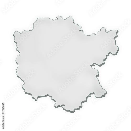 Mittelfranken Karte.Mittelfranken Karte Umriss Stockfotos Und Lizenzfreie