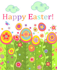 Easter seamless postcard