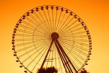 ferris wheel in summer in rimini