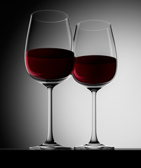 2 Glas Rotwein