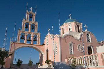 Wall Mural - Pink greek church