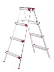 Aluminum ladder step isolated on white background