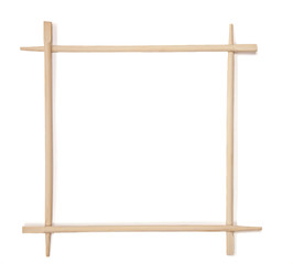 Decorative frame of bamboo chopsticks