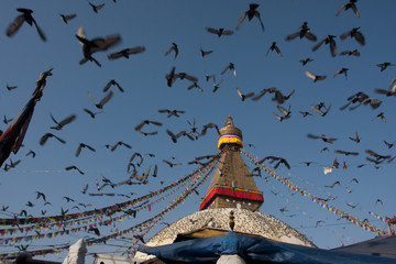 Flight to Boudhanath
