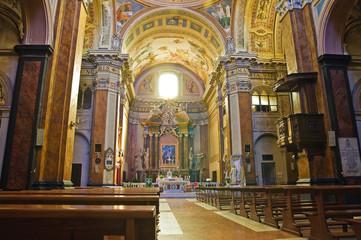Cathedral of Ronciglione. Lazio. Italy.