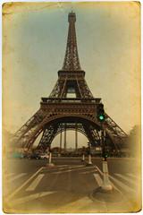 nostalgische Postkarte mit Eiffelturm
