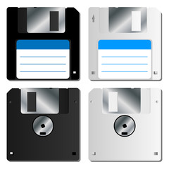 Realistic floppy disk