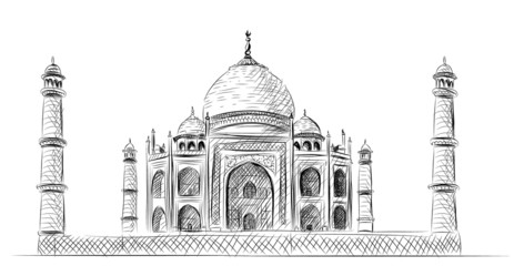 Vector World famous landmark collection : The Taj Mahal, India