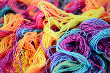 Background of bright yarn