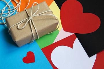Vintage Valentines Day gift box
