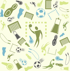 Vector background seamless. Sport and handball. soccer