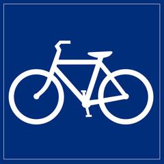 Papier Peint - Schild blau - Fahrradverleih