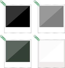 picture polaroid frame set isolated on white