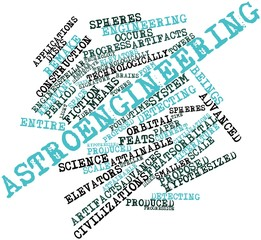 Word cloud for Astroengineering