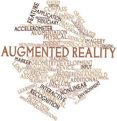 Word cloud for Augmented reality