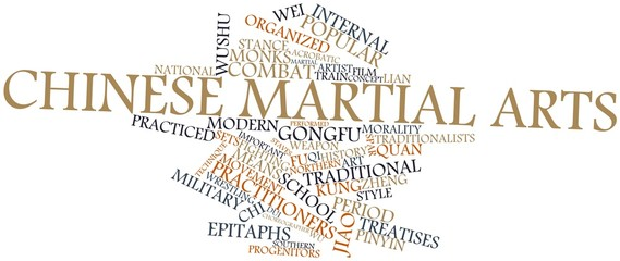 Word cloud for Chinese martial arts