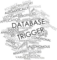 Word cloud for Database trigger