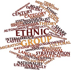 Word cloud for Ethnic group