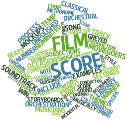 Word cloud for Film score