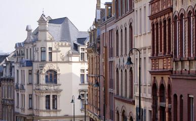 Strasse in der Altstadt von Wiesbaden