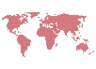 Welt rot - Serie: Pixelkarte Kontinente