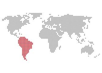 Südamerika - Serie: Pixelkarte Kontinente