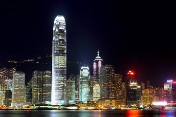 Türaufkleber Hongkong Hong Kong cityscape at night
