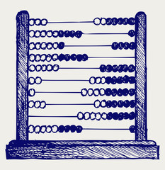 Abacus. Doodle style
