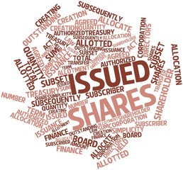 Word cloud for Issued shares