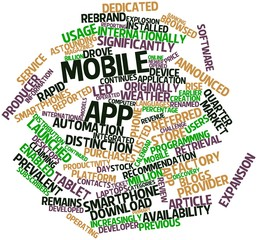 Word cloud for Mobile app