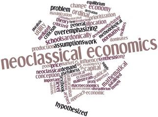 Word cloud for Neoclassical economics