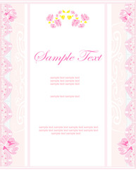 romantic flower invitation card
