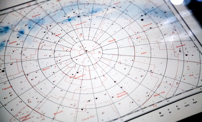 Astronomical paper star map