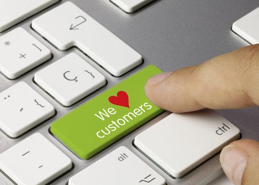 We love customers keyboard key. Finger
