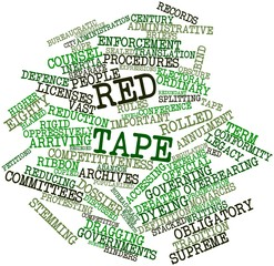 Word cloud for Red tape