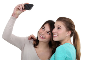 girls taking pictures of themselves