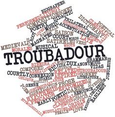 Word cloud for Troubadour