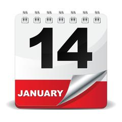 14 JANUARY ICON